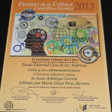 entregan-premio-anual-de-la-critica-cientifico-tecnica-2013