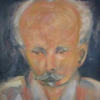 José Martí a través de las manos del artista Kamyl Bullaudy.