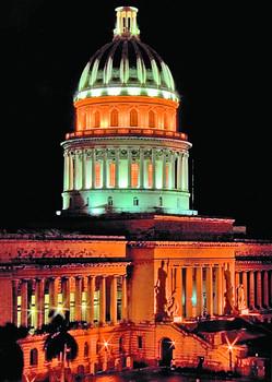 Capitolio de la Habana en la noche.