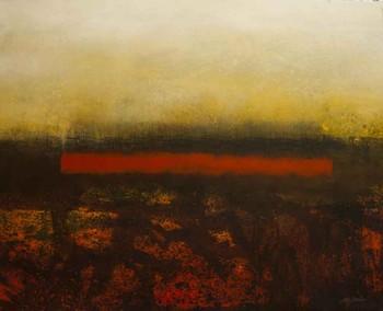 Ciudad en Rojo.Pintura de José Omar Torres.