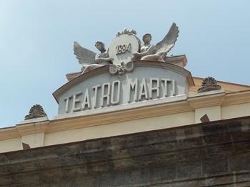 Teatro Martí. Detalle de su fachada