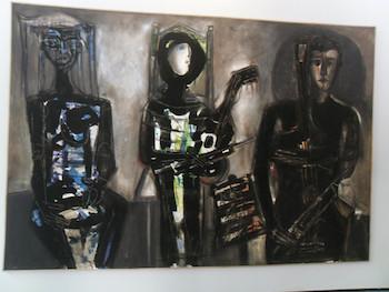 Los tres músicos, obra de Nelson Domínguez.