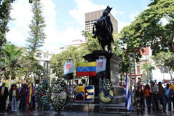 Homenaje a José Martí en capital de Venezuela.