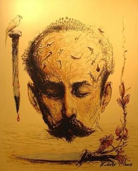 Martí (José Martí). Roberto Fabelo. 2005. Oléo sobre lienzo, 63 1/2 x 51 1/4.