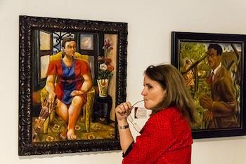 Imágenes de Exposición sobre retratos de retratos por 15 años de Génesis-Galerías de Arte.