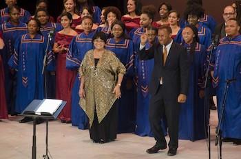 Maestra Digna Guerra, Coro de la Universidad Morgan State y el cubano Coro Entrevoces.