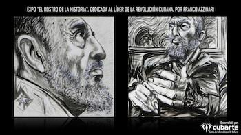 Imágenes de muestra pictórica EL ROSTRO DE LA HISTORIA/ por Franco Azzinari (Italia).
