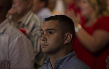 Elián González. Presentación por el 90 cumpleaños de Fidel Castro.