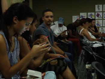 Presentación de La Papeleta en tu móvil en Arte en La Rampa 2016.