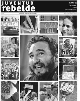 Fidel en el Periódico Juventud Rebelde (2016)