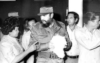 Fidel Castro en Textilera