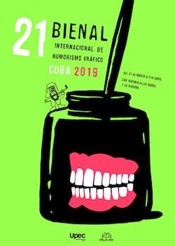 Cartel de la XXI Bienal Internacional del Humor de San Antonio de los Baños